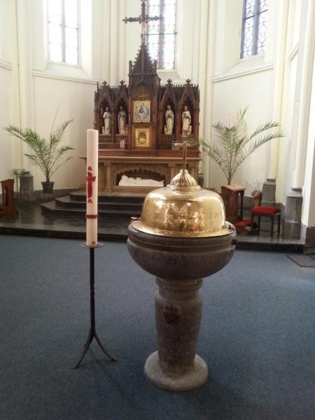 Eglise Ste-Walburge, baptistère