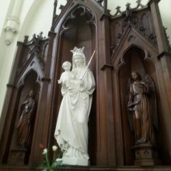 Eglise Ste-Walburge, autel latéral de la Vierge