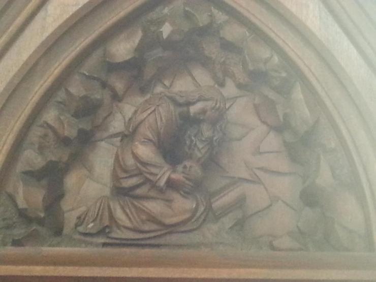 Eglise Ste-Walburge, détail du confessionnal