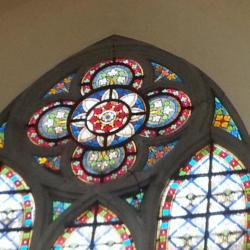 Eglise Ste-Walburge, vitrail du transept