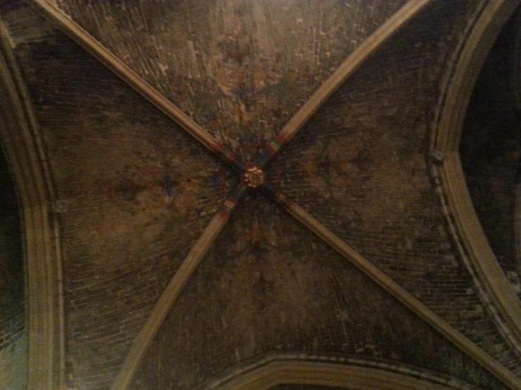 Collégiale Ste-Croix - plafond