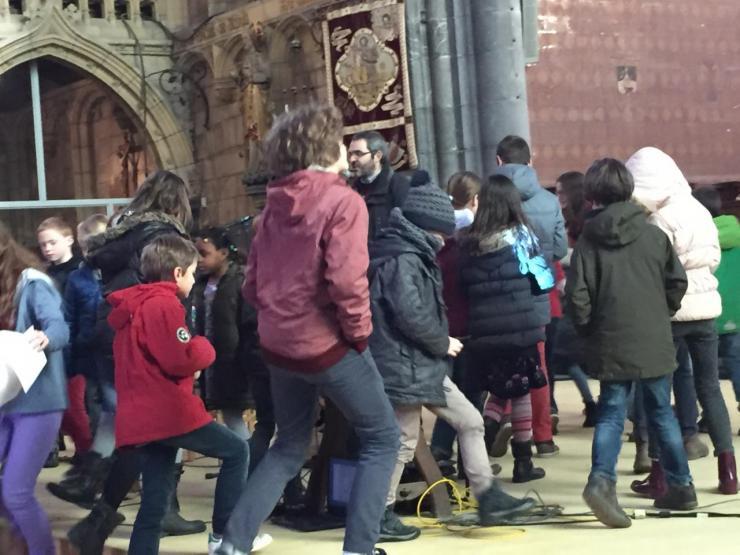 Matinée caté-TOUS du 28 février: départ en ateliers des enfants