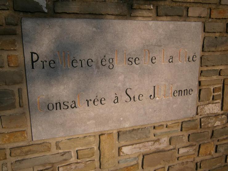 Première église dédiée à Sainte Julienne dans la ville de Liège