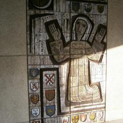 Eglise Ste-Julienne, la sainte patronne accueille à l'entrée