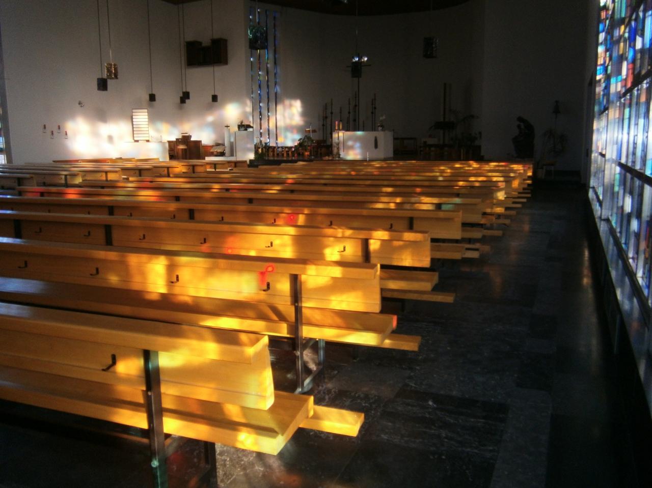 Eglise Ste-Julienne, jeux de lumière