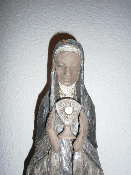 Chapelle de l'église Ste-Julienne, statue de sainte Julienne