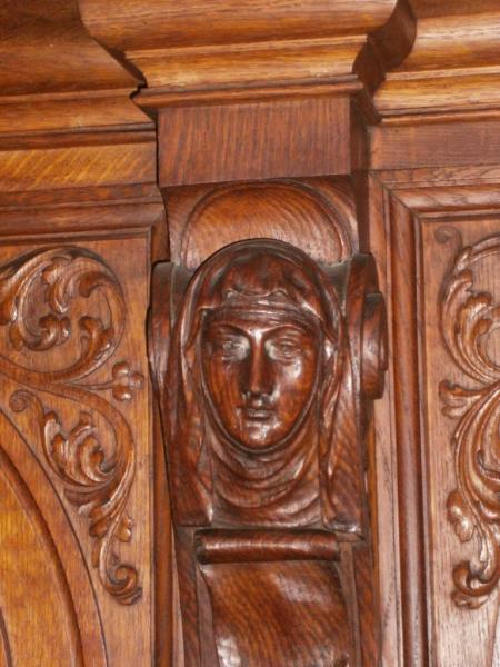 Eglise Ste-Marguerite, détail des stalles