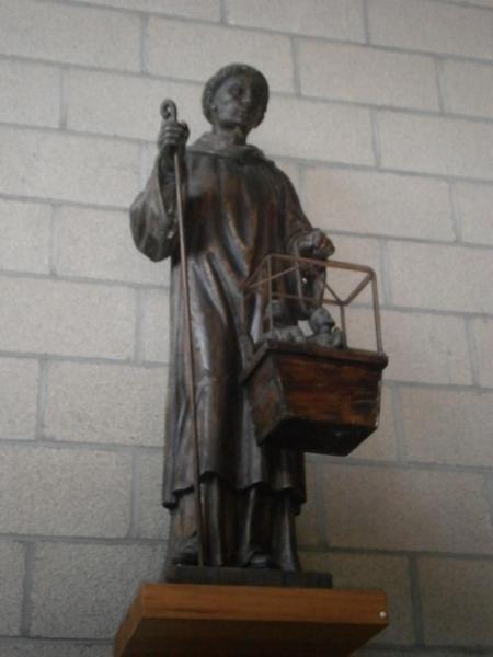 Eglise Ste-Marguerite, statue de bois
