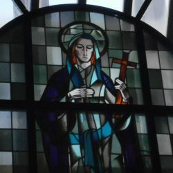 Eglise Ste-Marguerite, vitrail de la sainte patronne