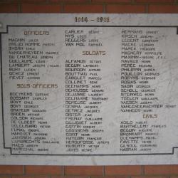 Eglise Ste-Marguerite, hommage aux victimes de la guerre du quartier