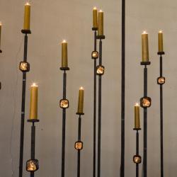 Eglise Ste-Julienne - candelabres du choeur